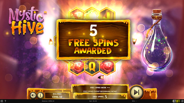 Mystic Hive - Free Spins